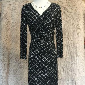Lauren black and white dress size 6